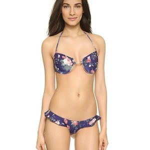 NWT WILDFOX Gypsy Flower Ruffle Cheeky Bikini